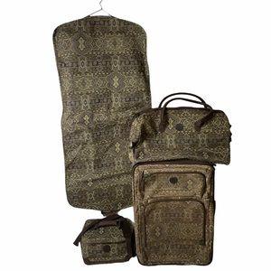 Ricardo Beverly Hills 4 pc luggage paisley print